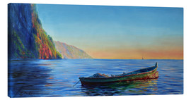 Stampa su tela  base of petit piton with gommier boat - Jonathan Guy-Gladding