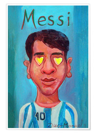 Poster Premium Messi and heart