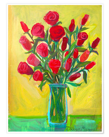 Poster  Red roses III - Diego Manuel Rodriguez