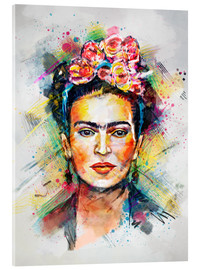 Stampa su vetro acrilico  Frida Flower Pop - Tracie Andrews