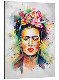 Stampa su alluminio  Frida Flower Pop - Tracie Andrews