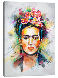 Stampa su tela  Frida Flower Pop - Tracie Andrews