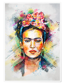 Poster Premium  Frida Flower Pop - Tracie Andrews