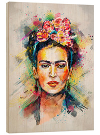Stampa su legno  Frida Flower Pop - Tracie Andrews