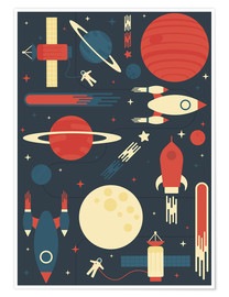 Poster Premium Space Odyssey