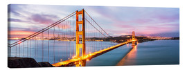 Stampa su tela  Panoramic of Golden gate bridge, San Francisco, USA - Matteo Colombo
