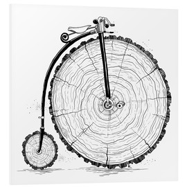 Stampa su schiuma dura  Wooden bicycle - Nikita Korenkov