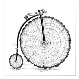 Poster Premium Wooden bicycle