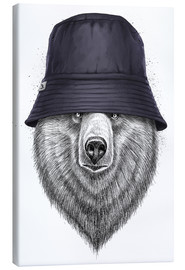 Stampa su tela  Bear in hat - Nikita Korenkov