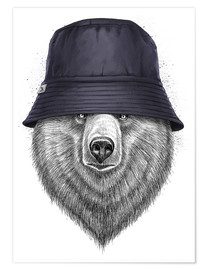 Poster Premium Bear in hat