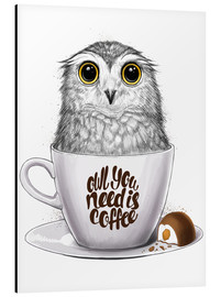 Alluminio Dibond  Owl you need is coffee - Nikita Korenkov