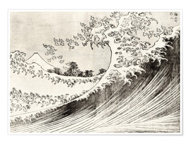 Poster Premium The Great Wave off Kanagawa