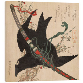Katsushika Hokusai - The Little Raven with the Minamoto clan sword