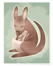 Poster Premium  Mamma and baby kangaroo - Ashley Verkamp