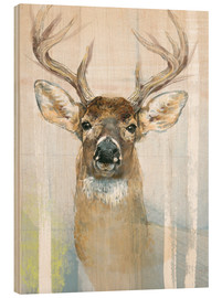 Legno  Whitetailed Deer Surrounded By Birches - Ashley Verkamp