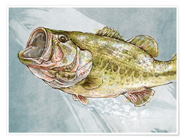 Poster Magnificent Largemouth Bass