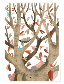Poster  In the Tree No 2 - Judith Loske
