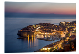 Stampa su vetro acrilico  Dubrovnik at Sunset - Mike Clegg Photography