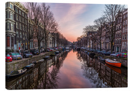 Stampa su tela  Amsterdam Canals at Sunrise - Mike Clegg Photography