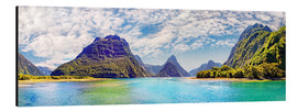 Stampa su alluminio  Milford Sound Panorama New Zealand - Michael Rucker