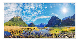 Poster Premium  Milford Sound New Zealand - Michael Rucker