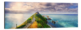 Stampa su alluminio  Nugget Point Panorama New Zealand - Michael Rucker