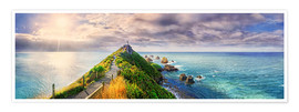 Poster Premium Nugget Point Panorama New Zealand