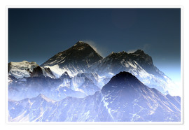 Poster Premium  Everest summit - Gerhard Albicker
