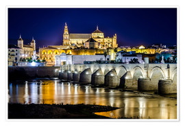 Poster Premium Cordoba at night
