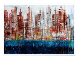 Poster Premium New York Skyline, abstract