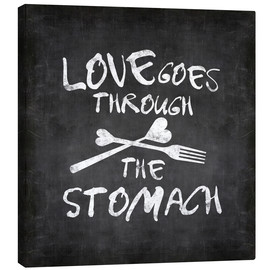 Stampa su tela  Love goes through the stomach - Andrea Haase