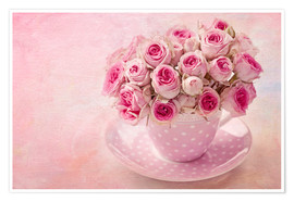Poster Roses in a cup