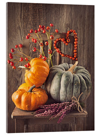 Stampa su vetro acrilico  Still life with the pumpkins - Elena Schweitzer