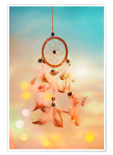 Poster Premium Dream catcher and abstract bokeh background