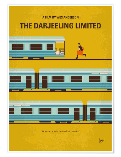 Poster No800 My The Darjeeling Limited minimal movie poster