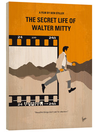 Stampa su legno  No806 My The Secret Life of Walter Mitty minimal movie poster - chungkong