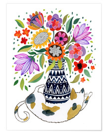 Poster Premium Calico Cat Bouquet