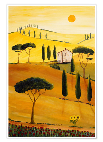 Poster Premium Colored Tuscany