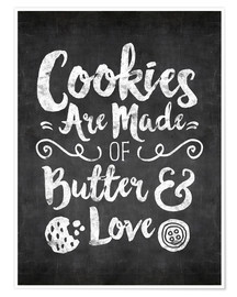 Poster Premium cookies are made with love