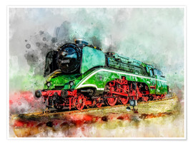 Poster Premium Steam locomotive 18 201, the fastest steam locomotive in the world