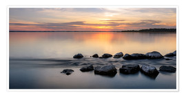 Poster Premium Sunset at Chiemsee - landscape
