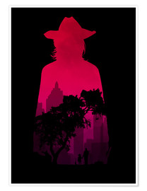 Poster Premium  The Walking Dead - Carl Grimes - Alternative Fanart - HDMI2K
