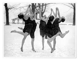 Poster Premium  Barefoot Dance In The Snow