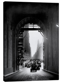 Stampa su tela  Arch at Grand Central Station - historical