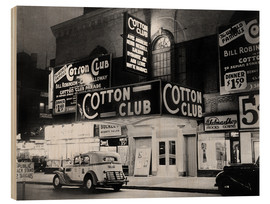 Stampa su legno  Cotton Club ad Harlem, New York