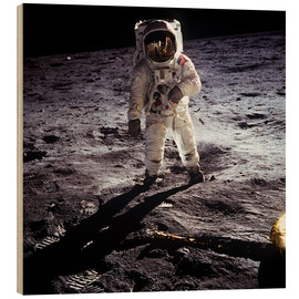 Stampa su legno  1st steps of human on Moon