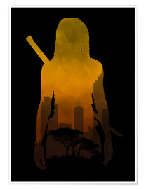 Poster Premium  The Walking Dead - Michonne - Alternative fanart - HDMI2K