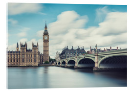 Stampa su vetro acrilico  LONDON, Big Ben and Westminster Bridge - rclassen