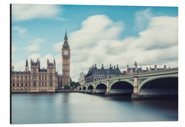 Alluminio Dibond  LONDON, Big Ben and Westminster Bridge - rclassen