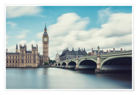 Poster Premium  LONDON, Big Ben and Westminster Bridge - rclassen